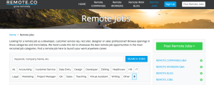 remote.co job board