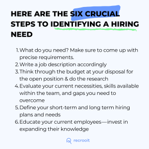 How to identify a hiring need and fill it
