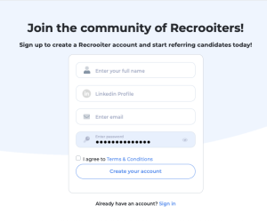 How to join Recrooit: the best recruitment side gig