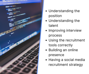 The key points to successful developer recruiting include: