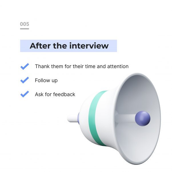 Tips for a great remote interview: what to do after an interview